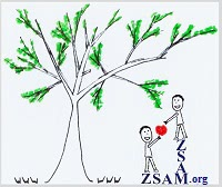 ZSAM.org picture 3 of 3: And then, this person gives the big red heart formed apple to the other person.